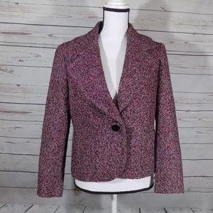 Talbots fully lined textured blazer 8P
